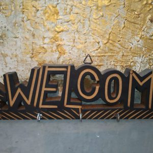 Welcome key hanger (wooden)